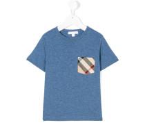 T-Shirt mit kariertem Brusttaschen