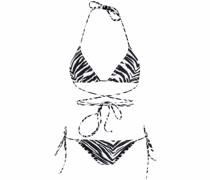 Miami Triangel-Bikini mit Zebra-Print