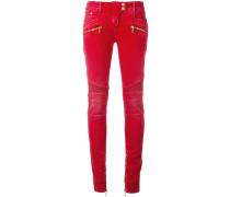 Skinny-Jeans im Biker-Look