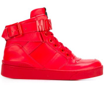 logo plaque hi-top sneakers