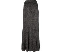 glitter effect pleated skirt