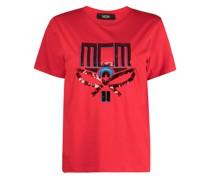 T-Shirt mit Pailletten-Logo