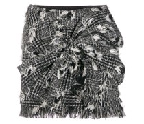 Geraffter Tweed-Minirock