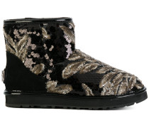 sequined flat boots