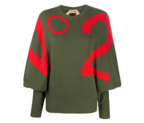 Pullover mit Intarsien-Logos