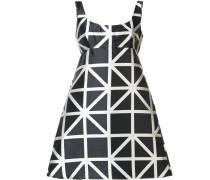 Kleid mit Gitter-Print