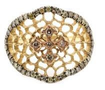 'Princess' Ring mit Diamanten