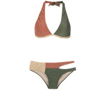 cut out velvet bikini set