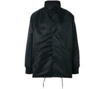 boxy satin jacket