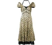 Seidenkleid mit Leoparden-Print