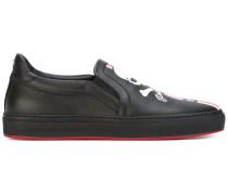 - Slip-On-Sneakers mit Totenkopf-Print - men