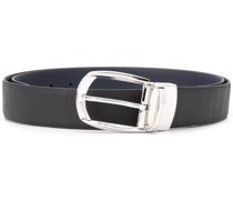 textured oval-buckle belt