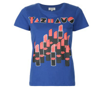 lipstick graphic print T-shirt