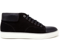 Suede and Leather Mid-Top Sneakers - men