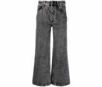 Halbhohe Wide-Leg-Jeans