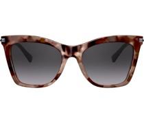 Cat-Eye-Sonnenbrille mit Nieten