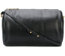 cylindrical weekend bag