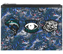 Clutch mit Print - men - Leder/Polyamid/rubber
