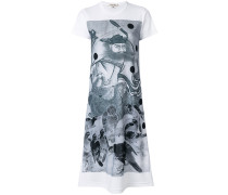 graphic print T-shirt dress