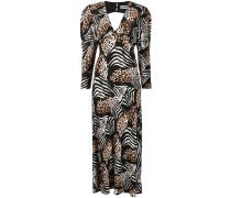 'Alicia' Kleid mit Animal-Print