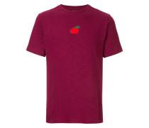 T-Shirt mit aufgesticktem Apfel