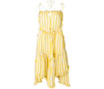 ruffle trim striped dress