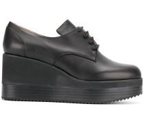 Oxford-Schuhe mit Keilabsatz
