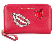 embellished zip purse
