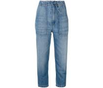 Cropped-Jeans mit weitem Schnitt