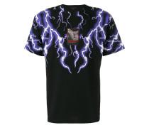 T-Shirt mit Blitzmotiven