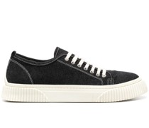 low-top panelled sneakers