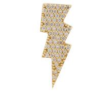 18kt Gelbgold-Ohrstecker mit Diamanten