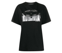 T-Shirt mit Cadillac-Print