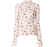 long sleeved floral T-shirt