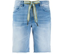 Jeans-Shorts mit Kordelzug