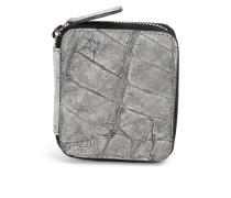 Portemonnaie mit Reißverschluss aus Krokodilleder
