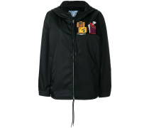 patches front zip jacket