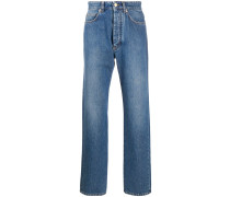 Gerade Jeans mit Zebra-Print