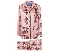 Seiden-Pyjama mit Print