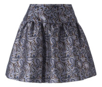 - Jacquard-A-Linien-Rock mit Paisleymuster