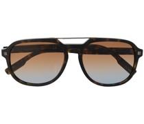 Oversized-Sonnenbrille mit Doppelsteg