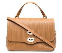 Texturierte 'Postina' Handtasche
