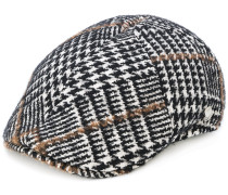 embroidered flat cap