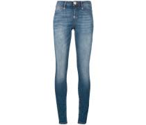 stonewashed skinny jeans - women