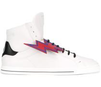 High-Top-Sneakers mit Blitzen