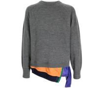 layered-detail wool jumper