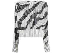 Strickpullover mit Zebra-Print