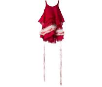Kleid mit Federbesatz - women - Seide/Elastan