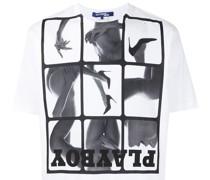 x Playboy T-Shirt mit Foto-Print