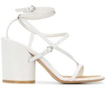 Sandalen mit Bast-Fußbett, 85mm
